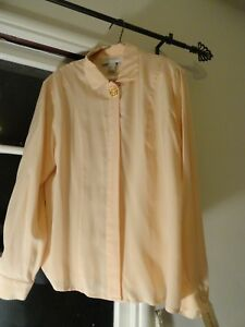 NWT Austin Reed Classics Baby Pink Long Sleeved Silk Blouse  Sz 8
