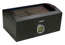 PORTOFINO Glass Top Cigar HUMIDOR with Digital Hygrometer - 125 Cigars