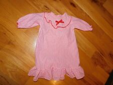 Alexis Red Striped Baby Nightgown Vintage