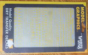 Woodland Scenics #742 Yellow -Dry Transfer Alphabet- 45 Degree USA
