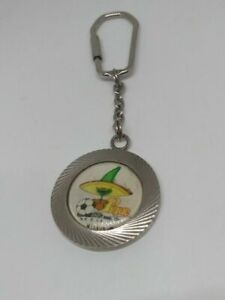 1986 FIFA World Cup MEXICO VINTAGE PIQUE MASCOT Official FIGURE METAL KEYCHAIN