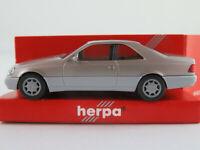 Herpa 031134 Mercedes-Benz 600 SEC (1992) in champagnermet./grau 1:87/H0 NEU/OVP