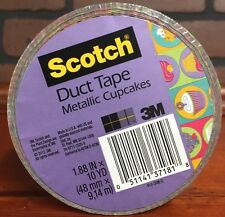 Scotch Metallic CupCakes Duct Tape 1.88 inches X 10 Yards New Stock 512
