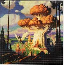FANTASY TREE SHROOM - BLOTTER ART Perforated Sheet acid free paper art