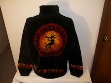 Vtg Southwest Indian Foundation Kokapelli Full Zip Fleece Jacket M/L