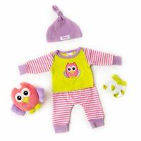 Olivia the Owl Sleep and Play Set ~ Kinby ~ Preemie Size Baby Girl Doll Clothes