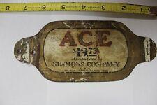 "7"" ACE SIMMONS COMPANY METAL MATTRESS NAME TAG PLATE"