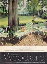 Collectibles 1957 Woodard Ciel Blue Wrought Iron Outdoor Furniture Woman Eating Watermelon Ad Latest Fashion Other Collectible Ads