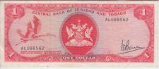 TRINIDAD & TOBAGO BANKNOTE P30a 1 DOLLAR, SIG 3, VF+