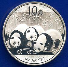 2013 China Proof 10 Yuan Coin 3 Pandas Drinking 1 Oz .999 Silver