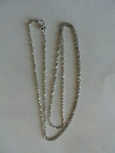 """Vintage solid White 14K gold chain 24.5"""" Long"""