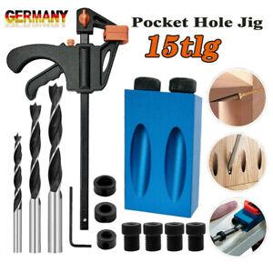 15× Bohrlehre Holzbearbeitung 15°Dübel Bohrschablone Bohrhilfe Handheld Bohrloch