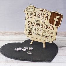 Facebook Wedding Photo Tagging Personalised Plaque / Sign