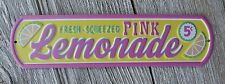 Fresh Squeezed PINK LEMONADE 5¢ Vintage Style Diner Stand Kitchen Tin METAL SIGN