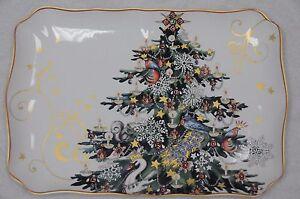 NEW Williams Sonoma TWAS THE NIGHT BEFORE CHRISTMAS RECTANGULAR TREE PLATTER