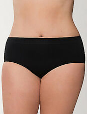 LANE BRYANT CACIQUE 14/16  Smoother Hipster Panty Black Nylon Blend Seamless