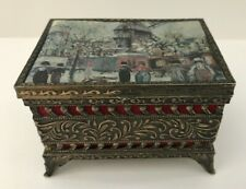 Vintage French Trinket Painting Box Maurice Utrillo  A Ma Chere Femme Lucie