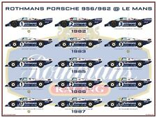 Print on Canvas Rothmans Porsche 956 / 962 @ Le Mans 120 x 90