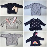 Bulk Lot x 6 Baby Girls Jumpers, Cotton On Kids, Target, Baby Berry - Size 1