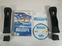 Wii Sports Resort + 2 Black Motion Plus Attachments Adaptors -- Nintendo Wii --