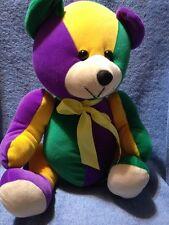 Acmi Sugarloaf Plush Teddy Bear Colorful Green Yellow Purple Tan