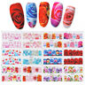 12 Patterns Nail Water Decals Transfer Stickers  Decor Tips Rose Flowers