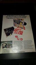 The Muppets Alphabet Album On Sesame Street Rare Original Promo Poster Ad Framed