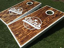 Burned Wood Custom Cornhole Boards