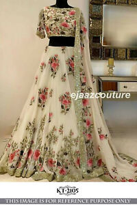 Floral Print Bollywood Indian Party Wear Lehenga Lengha Choli Stylish Pakistani