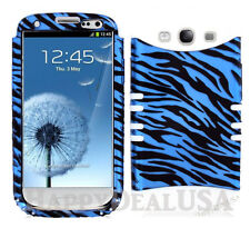 KoolKase Hybrid Silicone Cover Case for Samsung Galaxy S3 - ZEBRA BLUE