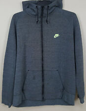 NIKE TECH FLEECE HOODIE SWEATSHIRT FULL ZIP DARK GREY VOLT 559592-037 (SIZE 3XL)