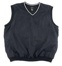 Mens Large IZOD GOLF Vest V-Neck Black Mesh Lined Pockets