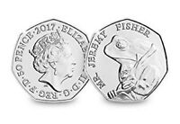 2017 UK MR. JEREMY FISHER UNCIRCULATED COIN BU 50P- OFFICIAL UK ISSUE