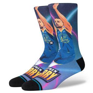 Stephen Curry Golden State Warriors Stance NBA Fast Break Socks Large Mens 9-13