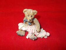 "Yesterdays Child Boyds Bears Dollstone Collection ""Shelby Asleep In Teddy'S Arm"