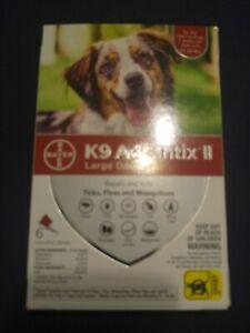 K9 Advantix II Flea Treatment Large Dog 6 Month Supply Pack K-9 21- 55 lbs