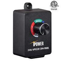 iPower ETL Certified Variable Fan Speed Controller for Inline Fan Air Blower