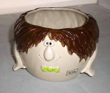 Vtg FF Fitz and Floyd Silly Cute Face Planter Pot Ceramic No Bottom 1975 Japan