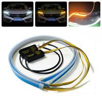 2x Auto LED Blinker Dynamische Streifen Auto DRL Scheinwerfer Tagfahrlicht Lampe