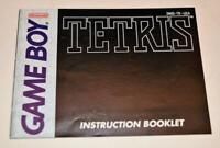 MANUAL ONLY Tetris Original Nintendo Gameboy Instruction Booklet