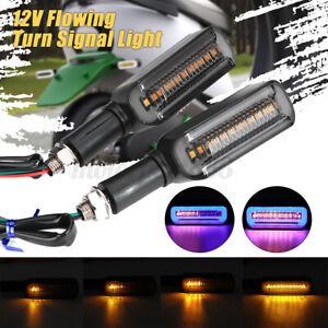 Paire 12V LED Ambre Séquentiel Clignotant Moto Tour Signal Indicateur Lumineux