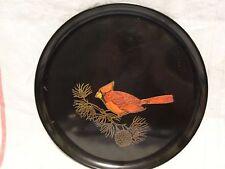 "10 3/8"" Round Tray Couroc of Monterey Cardinal"