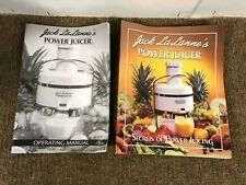 Jack LaLanne's Power Juicer CL-003AP Operating Manual & Guide Replacement