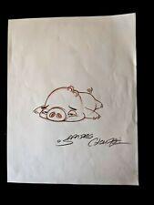 ANGRY BIRDS MOVIE Original Hand Drawn SANDRO CLUEZO SIGNED Piggy Concept Art