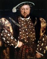 King Henry VIII & Saint St. Edward Paintings Real Canvas Art Print