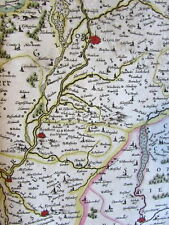 Poland Silesia Glogau Germany 1644 Jansson Hondius Scultetus decorative old map