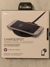 MIXX CHARGE Chargespot Wireless Charger-Black/Grey-compatible Qi Enabled phones