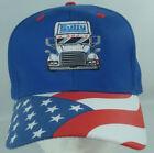 Gully Transportation American Flag Trucker Hat Semi Adjustable Patriotic
