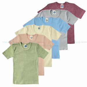 Cosilana Kinder Unterhemd kurzarm Wolle Seide Baumwolle Hemd T-Shirt Bio Öko
