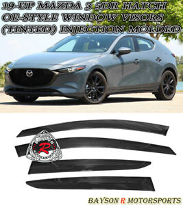 OE-Style Window Rain Guard Visors (Tinted) Fits 19-21 Mazda 3 5dr Hatch